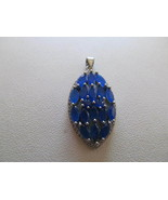 SAPPHIRE PENDENT , MARKED 925, NEW - $28.00