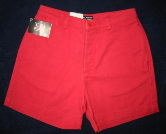 Ralph Lauren Polo Jeans  Plain Front Red Shorts 8