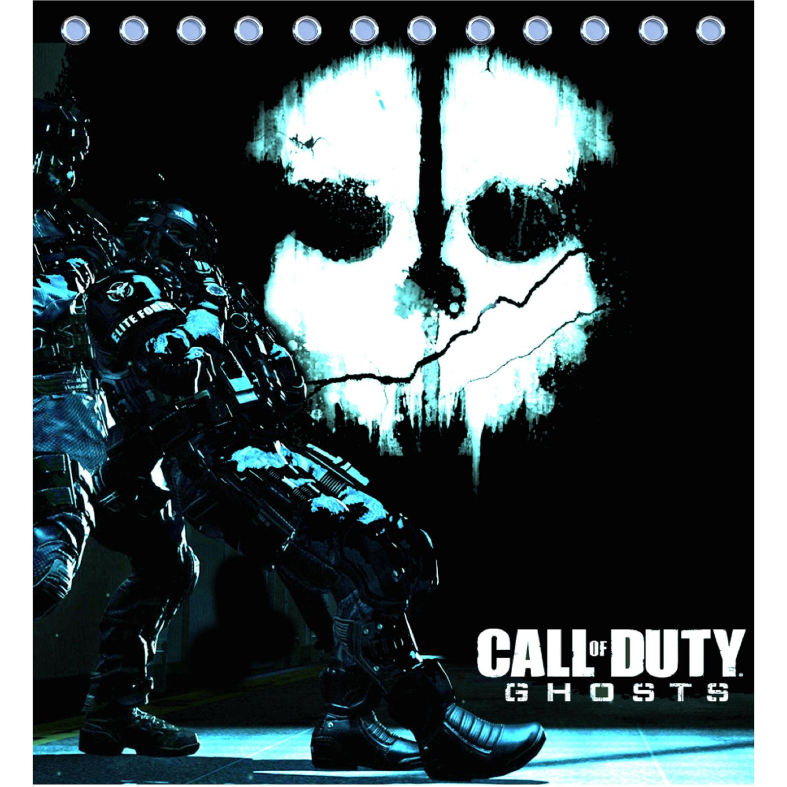 Shower Curtain Call Of Duty Ghosts Logo 2 Sku 411788 Shower Curtains