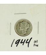 1944 United States Mercury Dime 90% Silver Rati... - $1.52