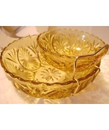 Vintage Anchor Hocking Honey Gold  3pc. Chip & ... - $10.00