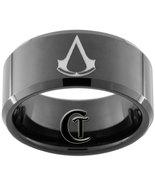 10mm Beveled Black Tungsten Carbide Assassin's ... - $49.00