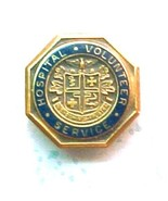 Hospital Volunteer Service pin gold plated - $6.00