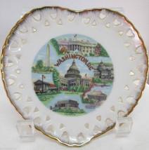 Heart Shaped Souvenir Collector Plate Washingto... - $18.50