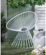Iron Patio Chair Fan Shaped - $120.00