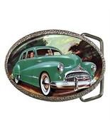CLASSIC 1948 GREEN BUICK BELT BUCKLE CHROME - N... - $12.99
