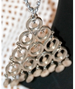 Vintage ARTICULATED DRIPPY PLATE Lisner necklace - $15.00