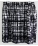 NWT Ann Taylor Loft Plaid skirt 8 Black White C... - $39.99