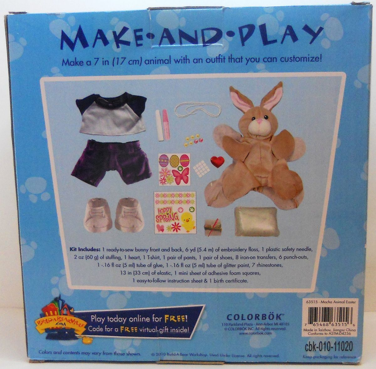 Build A Bear Make And Play Kit