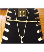 Goldtone and Rhinestone Necklace, bracelet, and... - $49.99