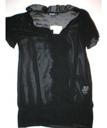 New Kensie Blouse NWT $68 Sheer Black Small S R... - $47.24