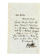 Letter Written by SIR HENRY IRVING (1836-1905) ... - $70.00