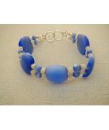 Light Blue Two Strand Cats Eye White Bracelet  ... - $29.50