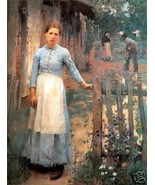 Old Masters Vintage Print, The Girl at the Gate... - $14.84