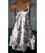 White Taupe Black Chemise Short Gown 2X Plus Si... - $12.50