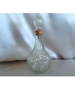 Vintage 70s Wine Decanter Pressed Glass Federal... - $10.00