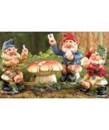 Poker Night Garden Gnome Figurines - 4 PC - $21.95