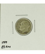 1959 United States Roosevelt Dime 90% Silver Ra... - $1.25