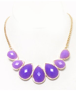 Purple Facet Jeweled Fashion Necklace  - $8.50