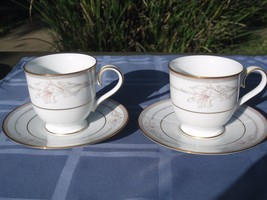 Noritake Jenna 3760 cups and saucers  LOT  (4 p... - $30.64