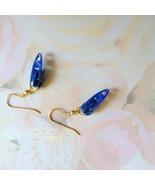 Blue Zipper Novelty Gold Plate Fishhook Earrings  - $4.50