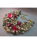 NWOT Joan Rivers Beaded Necklace QVC Lucite Bib... - $59.39