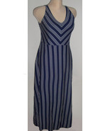 NEW $64 TAG Navy Blue & White Stripe Knit Long ... - $30.08