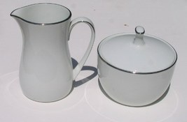 Noritake Fremont 6127 Creamer & Covered Sugar B... - $32.79