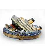 Limoges Box -  Sinking Titanic Ship & Life Boat... - $99.00