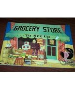 Antique Replica Book Grocery Store Set Up Pop-Outs - $15.00
