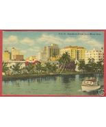 MIAMI FLORIDA Downtown River Boat Linen FL 1958... - $6.00