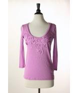 NWT J. Crew Silk Posy Tee Shirt Top XS - $36.95