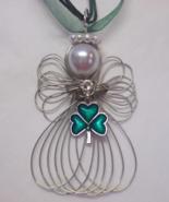 Good Luck Shamrock Angel Necklace New Handmade - $12.99
