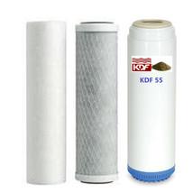 Carbon/Kdf55 Chlorine/ Heavy Metals/Voc's  Sediment Carbon Block Filters Set - $39.11