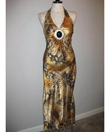 Sirens Sexy Animal Print Long Dress Size Small NWT - $19.00