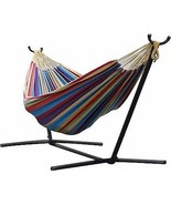 Vivere  Double Hammock w Space-Saving Steel Sta... - $164.50