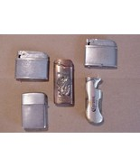 Lot of 5 Rare Old Vintage Lighters Automatic Br... - $28.71