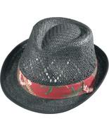Henschel Straw Fedora Vented Crown Hawaiian Rib... - $45.00
