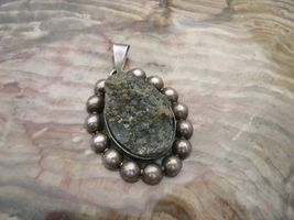 Vintage Mexico sterling silver pyrite druzy cry... - $70.00