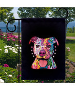 Pit Bull Dog New Small Garden Yard Flag Decor G... - $12.99
