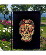 Sugar Skull Red Diamond New Small Garden Flag E... - $12.99