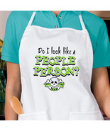 Do I Look Like A People Person Skull New Apron ... - $19.99