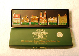 DEPT. 56 20TH ANNIVERSARY 6 PIN SET - NIB - $8.15