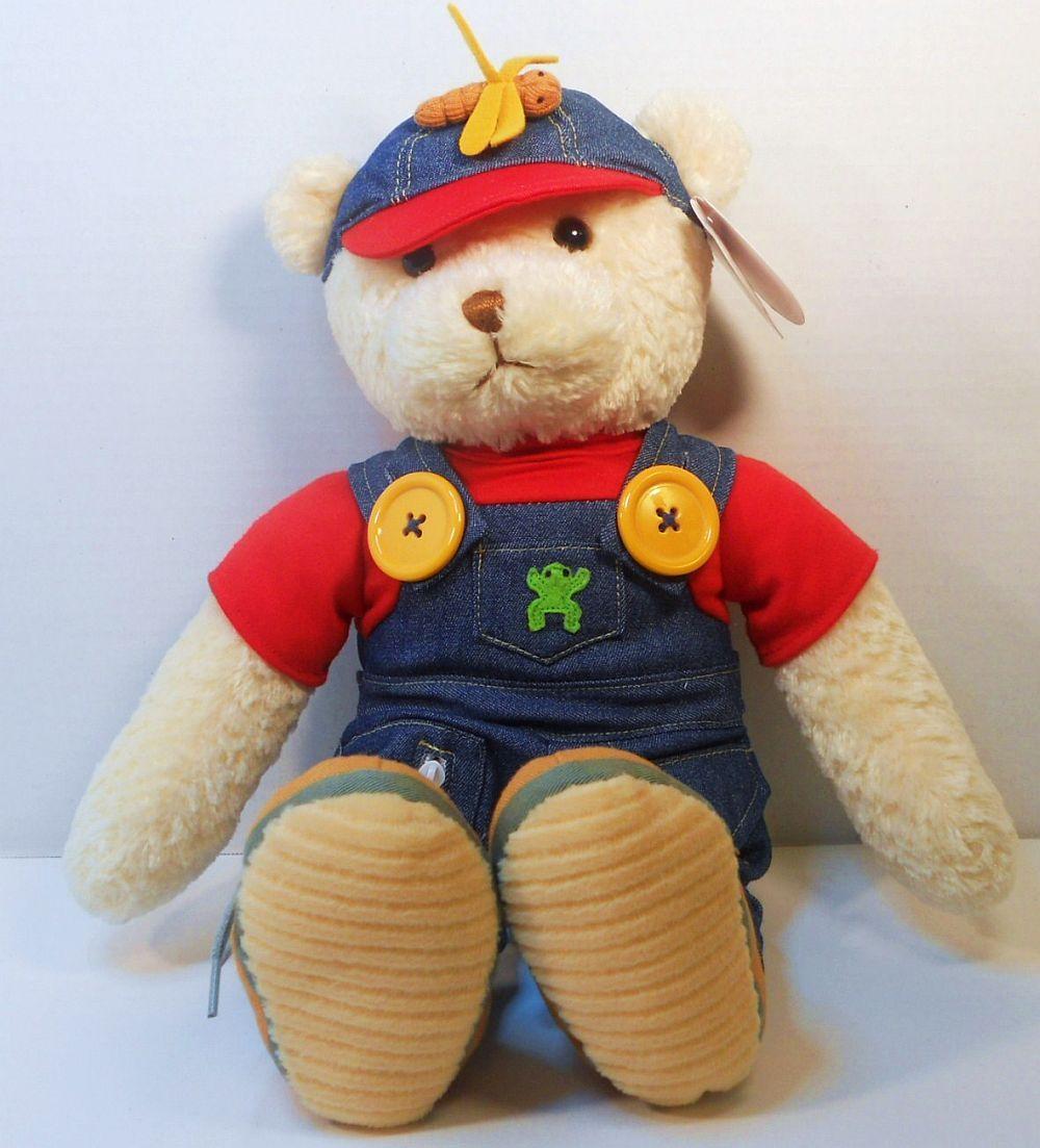 Baby Gund Teach Me Boy Teddy Bear soft plush 17 inch