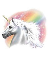 Air Brushed Look Rainbow Unicorn   Hooded Sweat... - $24.70 - $32.62