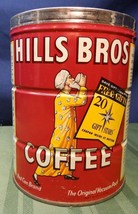 Vintage 1950's 2 Lbs Hills Bros Coffee Tin Can ... - $24.74