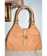 NWT $378 MICHAEL KORS HUDSON Large Leather Shou... - $188.06