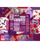5 FQ Red Hat Society Quilt Cotton Fabric Sweet,Ladies - $15.00