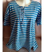 PreOwned Blue and White Striped Elisabeth by Li... - $9.99
