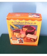 Vintage Fisher Price #6150 Fun with Food Cake Baking Fun COMPLETE/MINT IN BOX! - $29.99